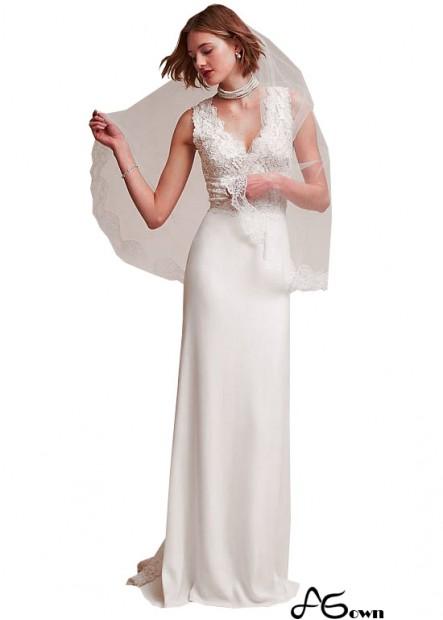 Agown Beach Wedding Dresses T801525319741
