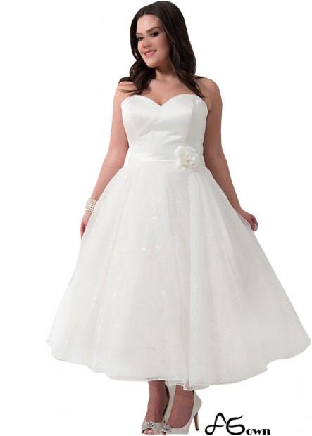 Agown Short Plus Size Wedding Dress T801525317605