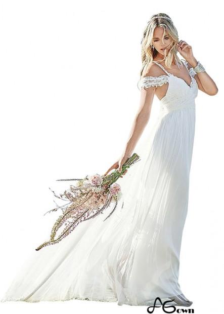 Agown Beach Wedding Dresses T801525317619