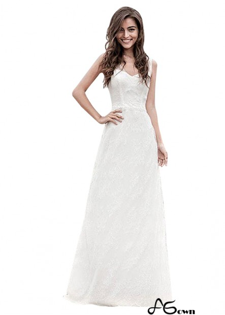 Agown Beach Wedding Dresses T801525320211
