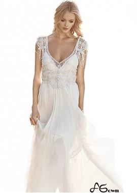 Agown Unusual Unique Boho Princess Beach Wedding Dresses