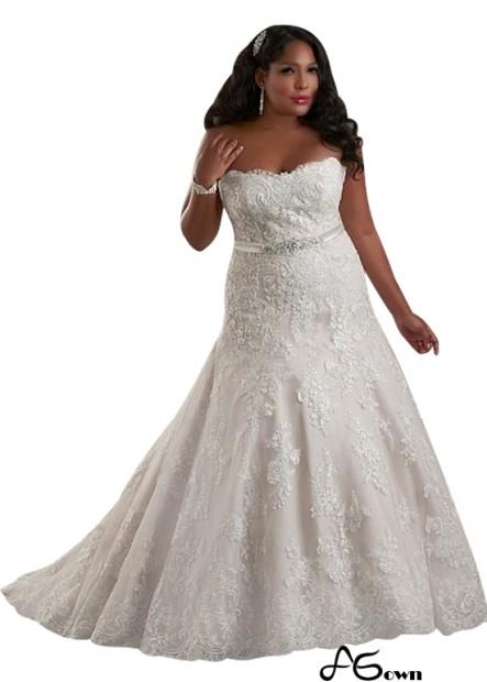 Agown Plus Size Wedding Dress T801525325536