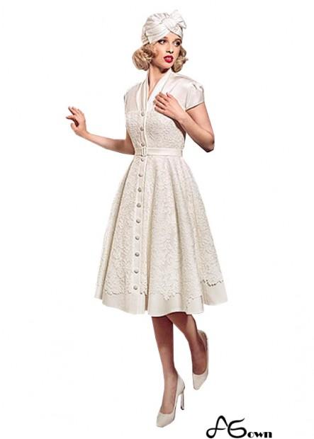 Agown Short Wedding Dress T801525328561