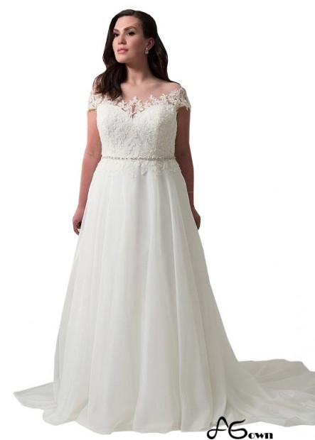 Agown Plus Size Wedding Dress T801525336763