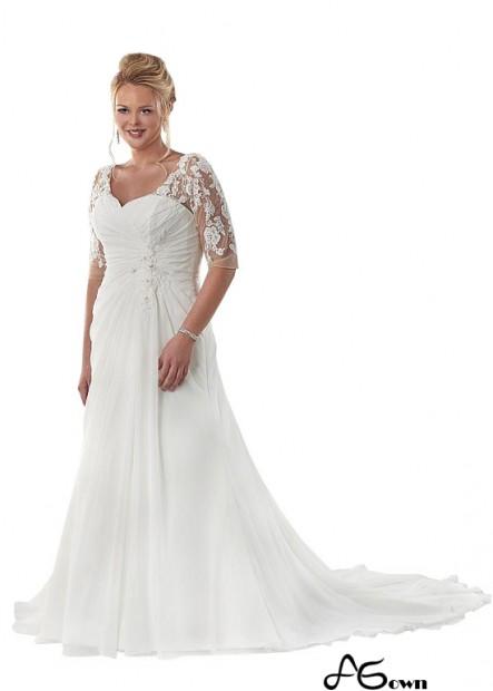 Agown Beach Plus Size Wedding Dresses T801525317715