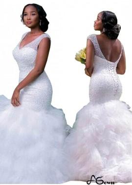 Agown Plus Size Wedding Dress T801525318377