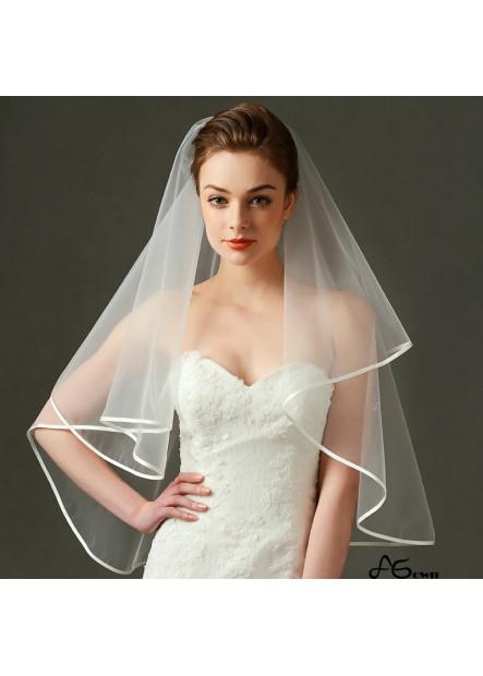Bridal wedding dress wedding veil manufacturers wholesale exquisite edging short yarn Wedding Veil T901554087742